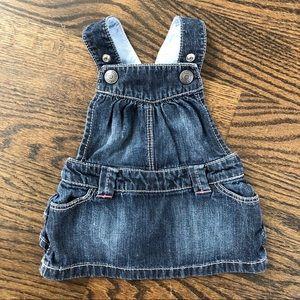 Baby Girl Denim Overall Dress